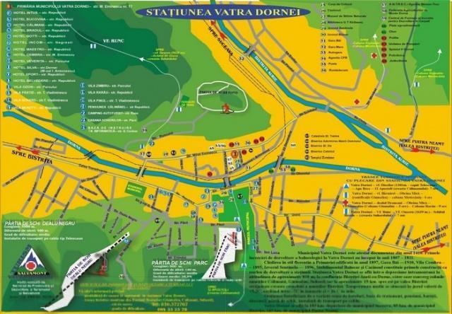 Harta Vatra Dornei